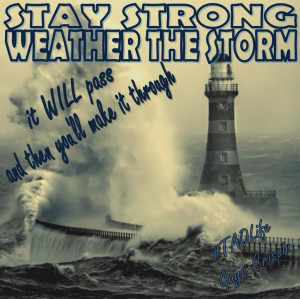 Poster>> Stay strong. Weather the storm. It will pass and then you'll ...