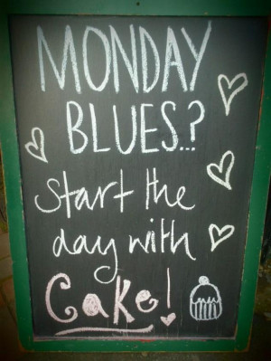 Monday Blues? Start the day with #Cake!