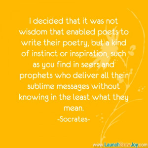 Great quote from Socrates