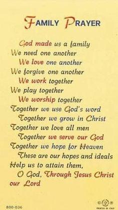 Family Prayer Wall Monogram - Wall Decal - Family Vinyl Decal