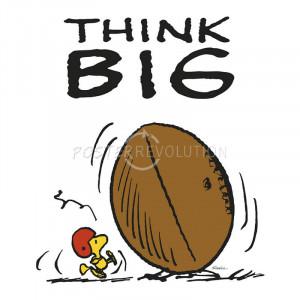 Charles Schulz Think Big Peanuts Comic Art Poster