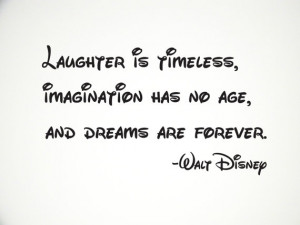 Walt Disney Quote Wall Decal