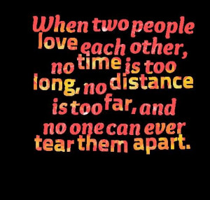 Two people love each other quotes