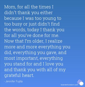 Quotes Thank You Mom ~ Happy Birthday mom quotes