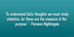 Statistics Florence Nightingale Quote