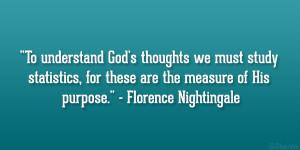 Statistics Florence Nightingale Quote