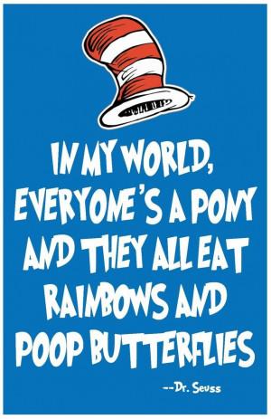 Dr. Seuss Wall Art Rainbows Print Home Decor Quote Poster 11x17