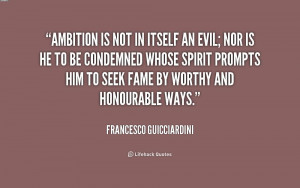 Ambition Is Priceless Quote Ambition is not in itself an