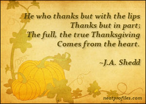 True Thanksgiving Quote
