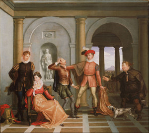 ... Shrew (Katharina and Petruchio), painting by Washington Allston, 1809