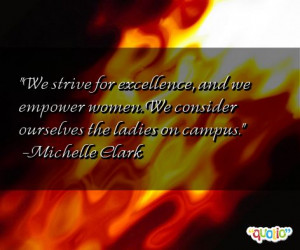 We strive for excellence, and we empower women. We consider ourselves ...