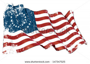 US Civil War Union -37 Star Medalion- Flag Grunge. Grunge Illustration ...