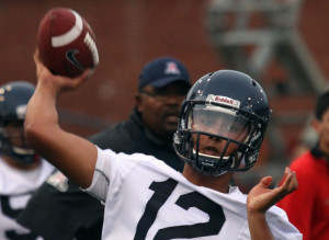 Solomon beefed up, ready to compete for next year's QB job