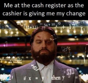 funny picture cashier change math wanna joke.com