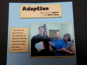 Adoption scrapbook page