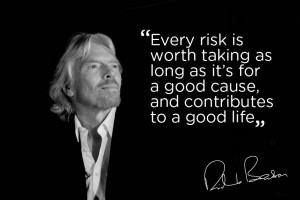 Every risk is worth taking as long as it's for a good cause, and ...