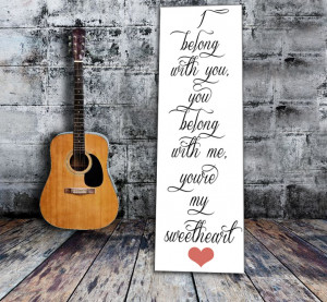 Wedding Canvas Ideas: #3 One line lyrics from a favorite song (canvas ...