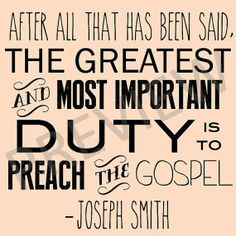 Downloadable Printable Missionary Work Quote - LDS Mormon Joseph Smith ...