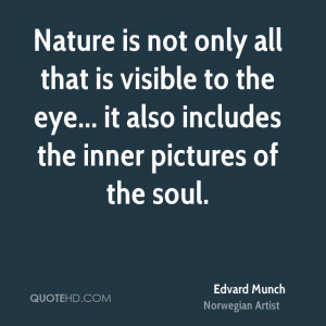 Edvard Munch Nature Quotes