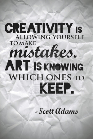 Scott Adams Quote Poster by Sjatcko