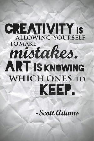Scott Adams Quote Poster by Sjatcko
