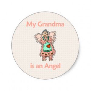 Grandma Angel Stickers