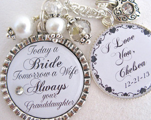 of the BRIDE Gift Grandma of the Groom Always your Granddaughter ...