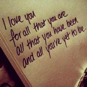 loved you before I even met you!