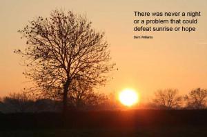 Morning Sunrise Is A Hope
