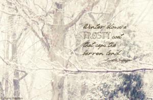 Winter Blows A Fresty Coat That Caps The Barren Land