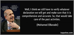 More Mohamed ElBaradei Quotes