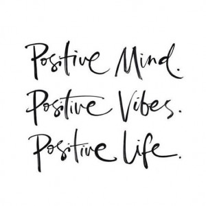 Don't let negative thoughts take over your mind and your self ...
