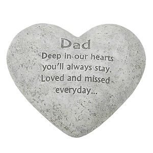 www.ebay.co.uk/itm/In-Loving-Memory-Graveside-Heart-Plaque-Stone-Dad ...