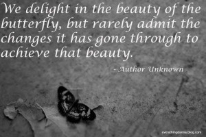 When Life Can Be Tough, Just Remember...butterfly quote