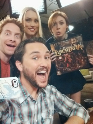 ... green, clare grant and karen gillan played a game with me on tabletop