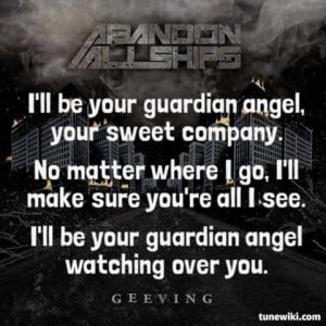 LyricArt for Guardian Angel by Abandon All Ships