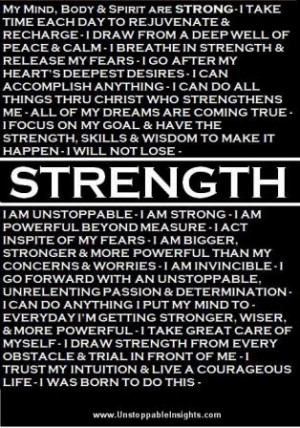 Motivational Quote on Strength
