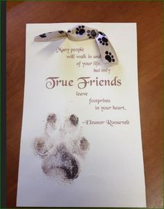 Loss of A Pet - Our Pets leave a Permanent Pawprint in our Hearts More