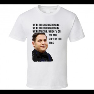 Jonah Hill 22 Jump Street Funny Distressed Missionary Quote T Shirt