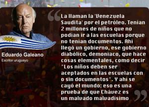 Eduardo Galeano sobre Hugo Chavez