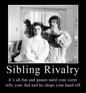 Star Wars Sibling Rivalry By