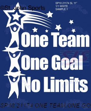 ONE TEAM,ONE GOAL, NO LIMITS