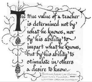The true value of a teacher