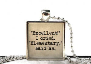 Sherlock quote elementary quote fandom word quote resin necklace or ...