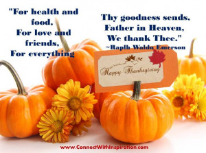 Thanksgiving For Health And Food, For Love And Friends, For Everything ...