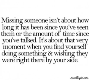 Love Quotes About Missing Someone Image