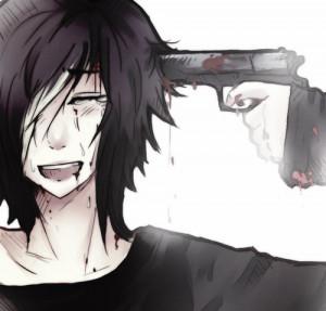anime, anime boy, blood, cry, depressed, gun, manga, sad