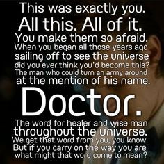 doctor who quote from a good man goes to war more doctors who quotes ...