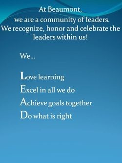 ... Schools, Kid Leadership Quotes, Leader In Me Mission Statement
