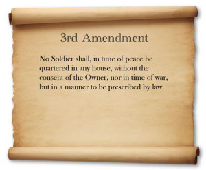 3rd Amendment to the U.S. Constitution